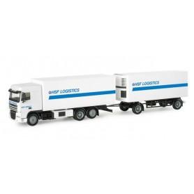 """Herpa 154536 DAF XF 105 SC box trailer """"HSF Logistik"""" (NL)"""