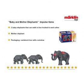 """Märklin 00790.01 Figurer """"Baby and Mother Elephants"""", figurer för utbyggnad av Cirkus Mondolino"""