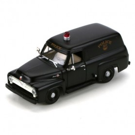 Athearn 26482 RTR 1955 Ford F-100 Panel Truck, Police/Black