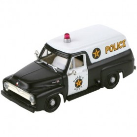 Athearn 26483 RTR 1955 Ford F-100 Panel Truck, Police/Black&White