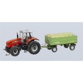 Faller 161536 Traktor MF med släp (Wiking)
