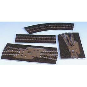 Tillig 86505 Rälsbädd, brun, för Tillig kurva R41