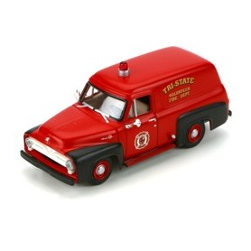 Athearn 26485 Ford F-100 Panel Truck, Fire/Red&Black 1955