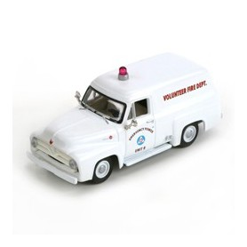 Athearn 26487 Ford F-100 Panel Truck, Civil Defense/White 1955