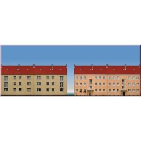 Auhagen 41614 Bakgrundsmotiv, flerfamiljshus