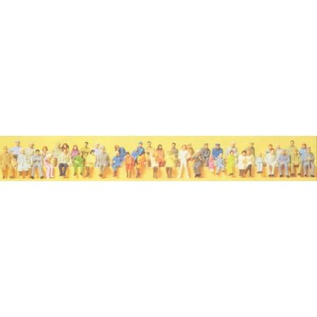 Preiser 14416 Sittande personer, 48 st