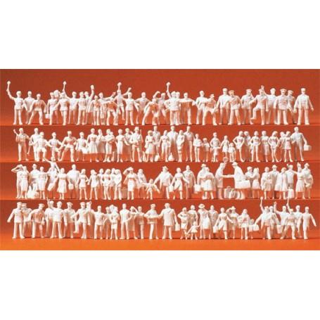 Preiser 16325 Passagerare och järnvägsarbetare, 120 st, omålade