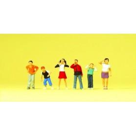 Preiser 10556 Barn/Ungdomar, 6 st