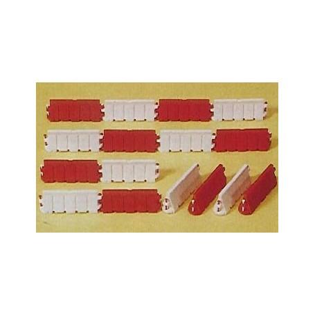 Preiser 17178 Väghinder, vit/röd