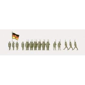 Preiser 16593 Figurer Guard Batailion NVA, 25 omålade figurer